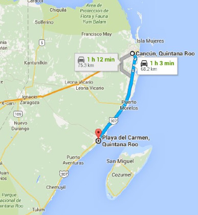 Cancun to Playa del Carmen