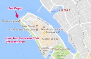 Zadar Map